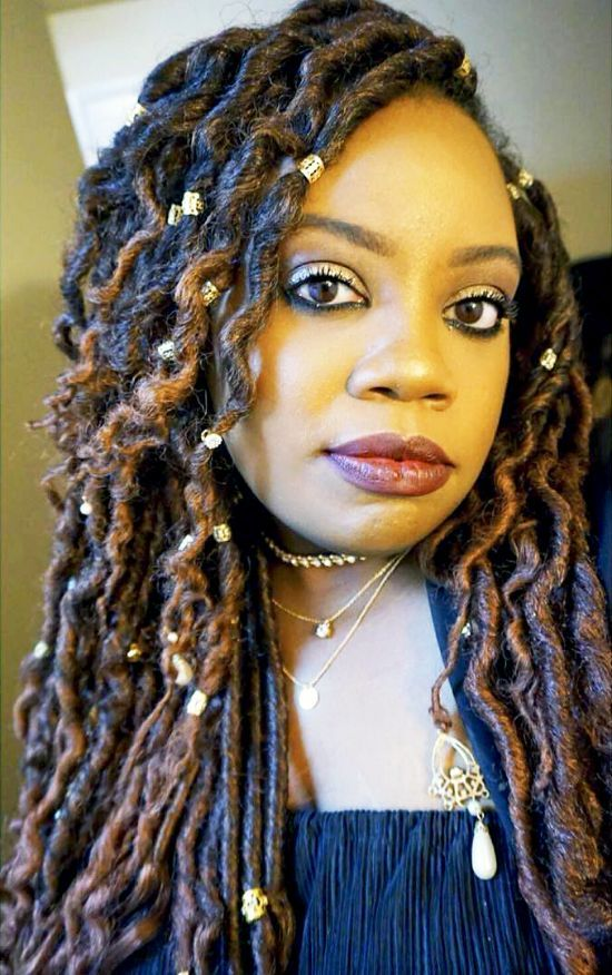 Goddess Faux Locs Hairstyles
