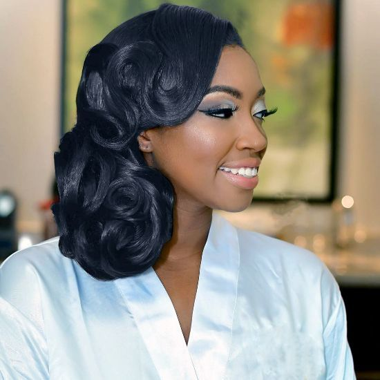 Pin Curl Updo