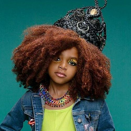 Crowned Crochet Afro for black kids :cute hairstyles for black girls