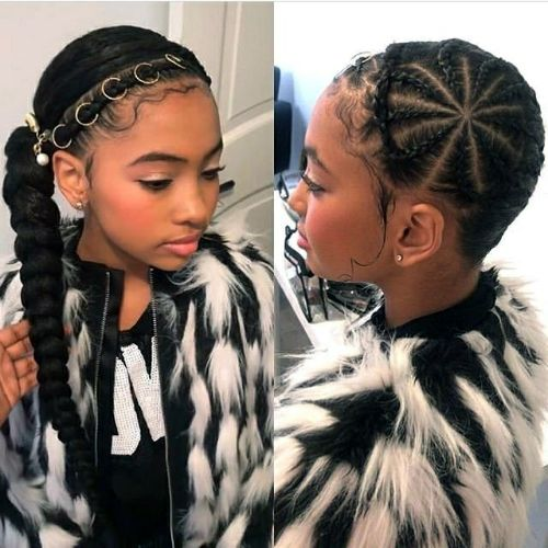 Headband Braid, Beads and Thick Ponytail : cute hairstyles for black girls