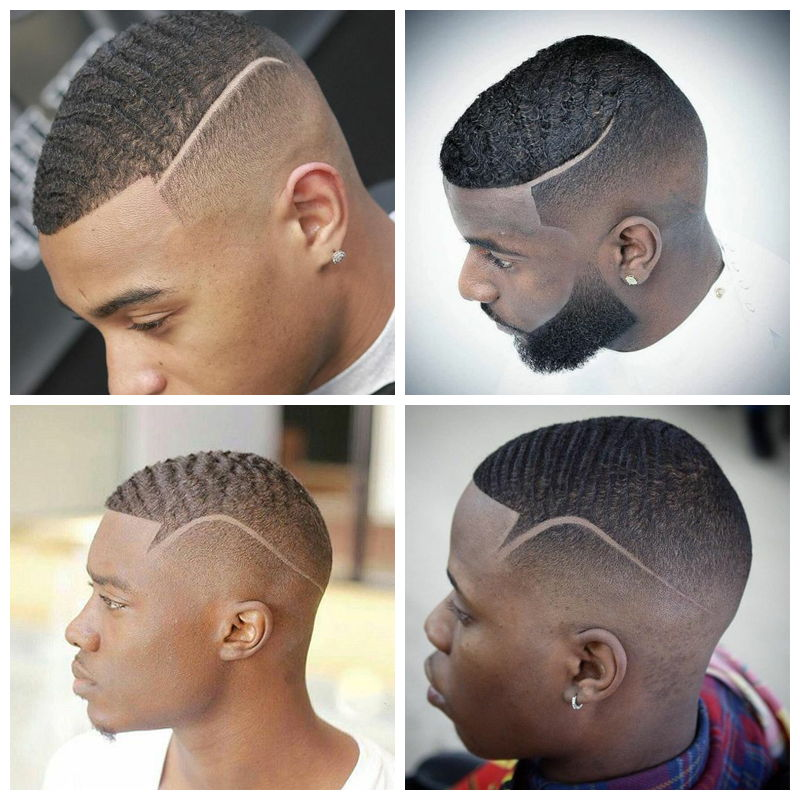 Front Waves: black men haircuts