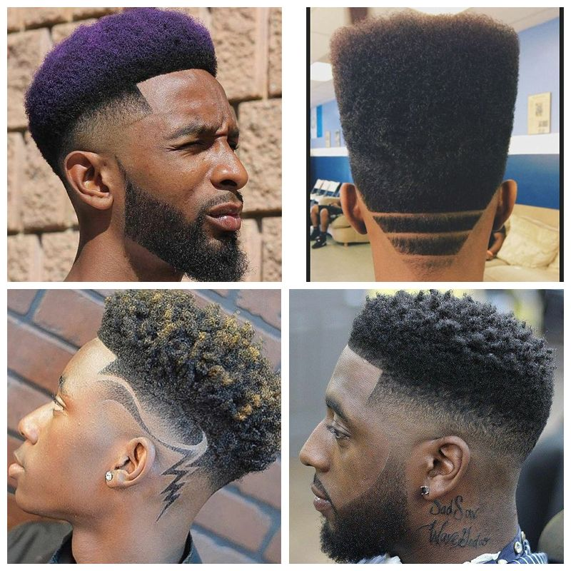 High Top Afro: black men hairstyles