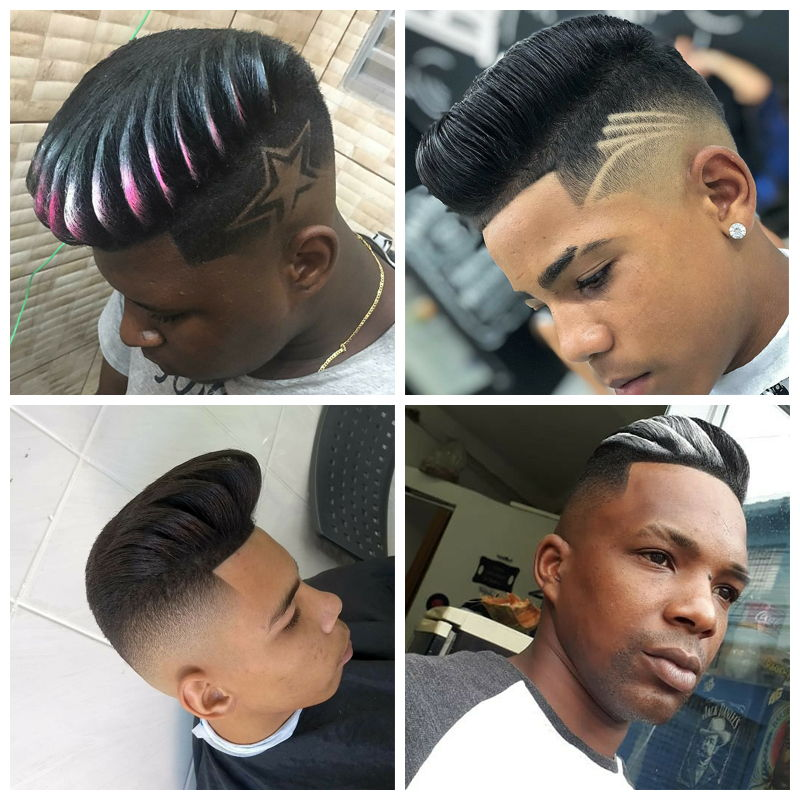 Quiff Haircuts: black male haircuts
