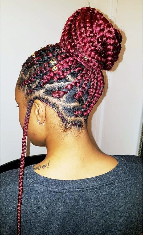 Braids, Beads and Updo