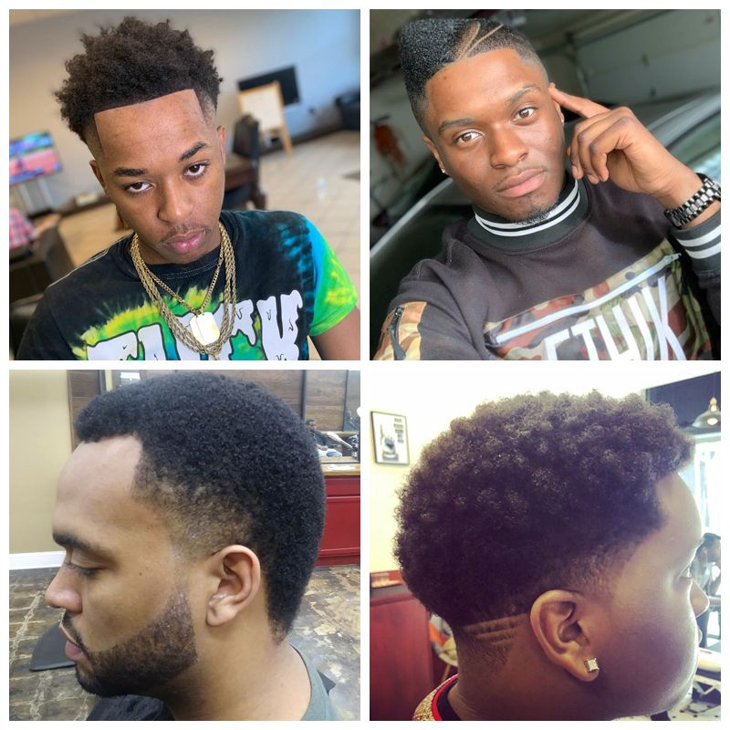 Temple Fade : black men hairstyles