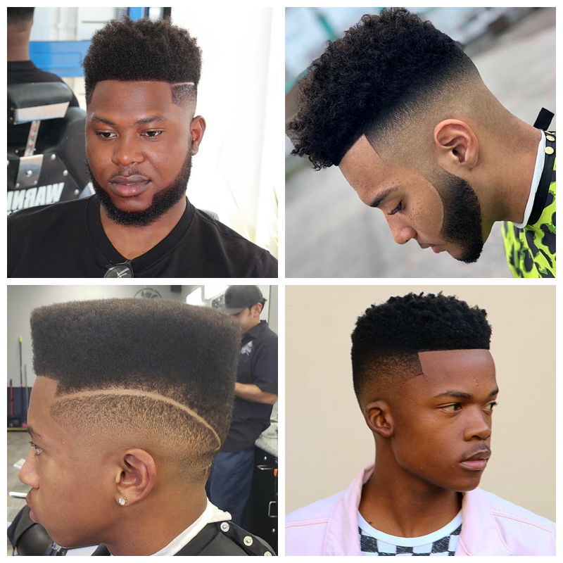 High Top Fade: black male haircuts