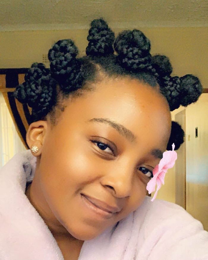 Popular Bantu Knots Style