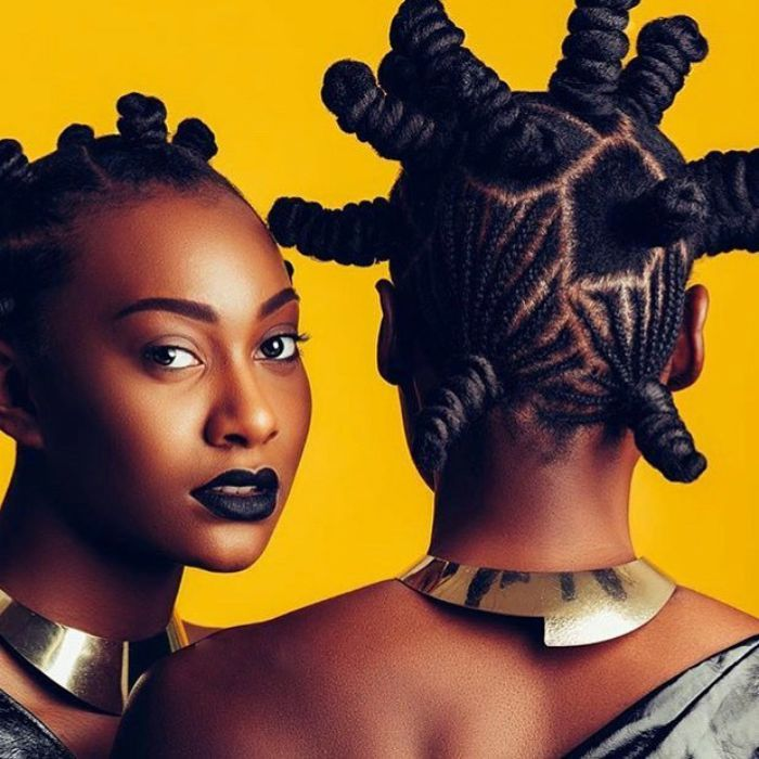 Braided Bantu Knots with Polygon Shape