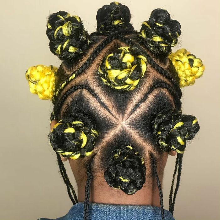 Bantu Knots Hairstyles for African American Black Women