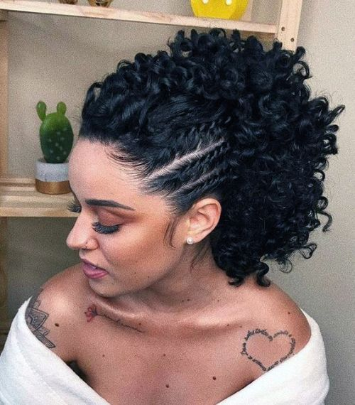 Side Braids with Crochet hair