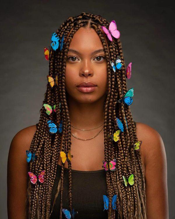 Glazing Medium Box Braids with Beads