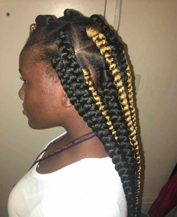 Highlighted Box Braids