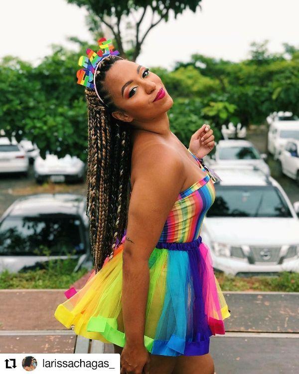 Multicolored Box Braids
