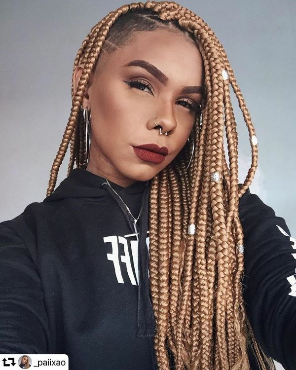 Box Braids Mohawk