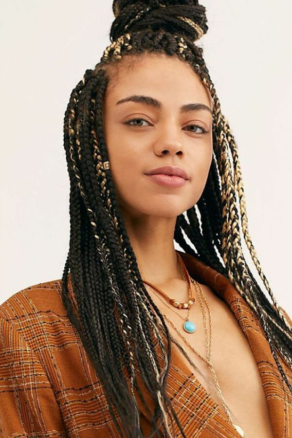 Box Braids Topknot