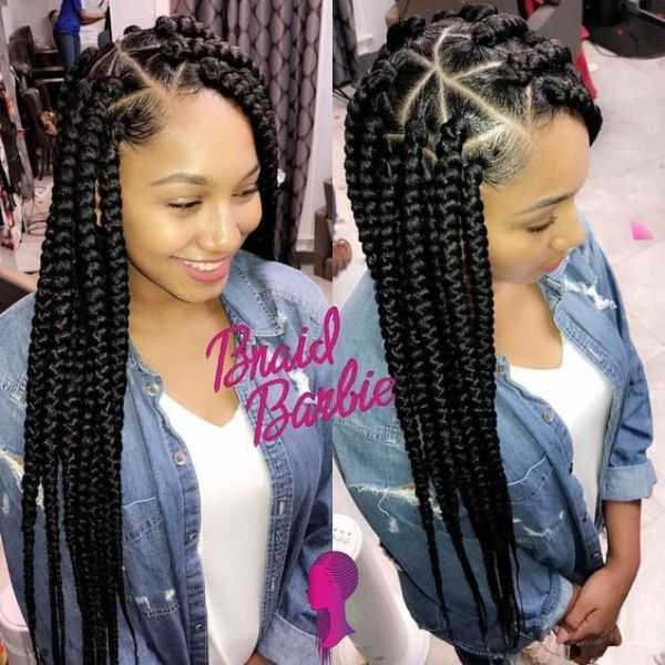 Triangular Box braids