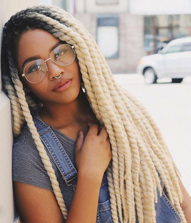 Blonde Twisted Braids