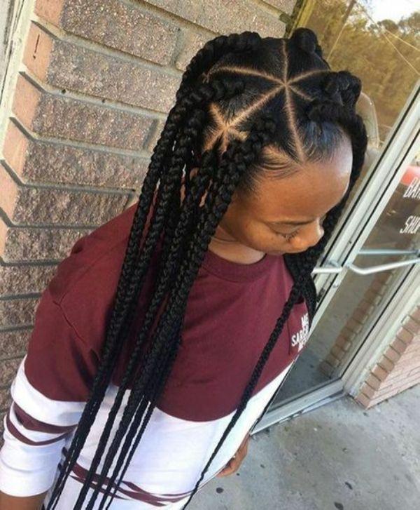 Triangular Box braids