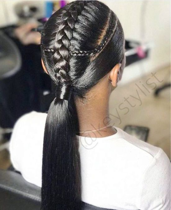 French-Braided-Ponytail