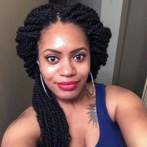 Twisted Hairstyles for African American Black Women