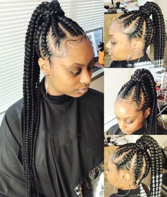 Giant Cornrows Braids