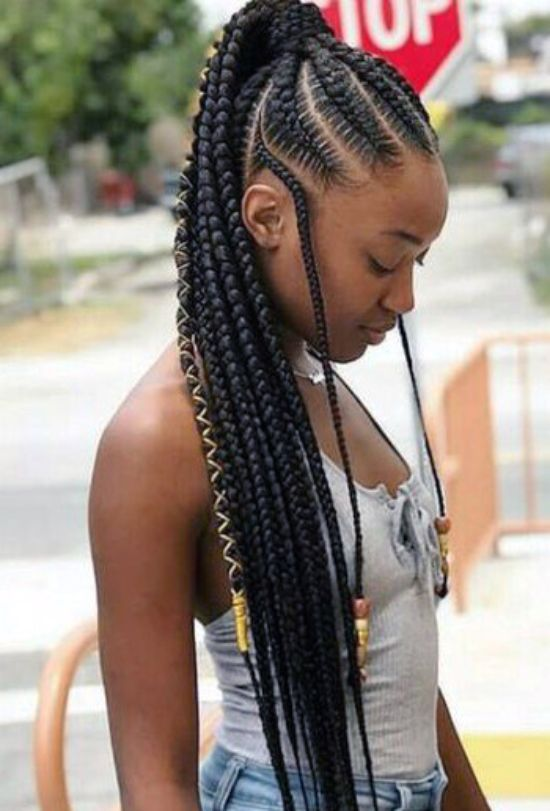 Cornrows-Braided-Ponytail