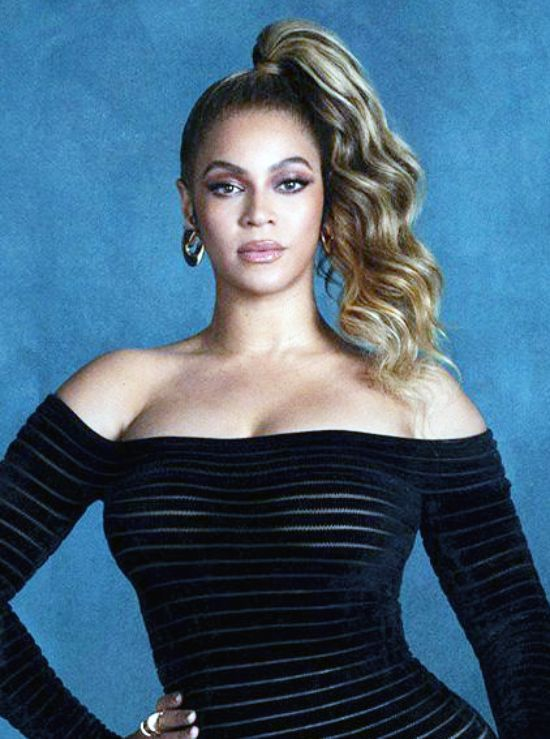 Beyoncé with Ponytail Hairstyles