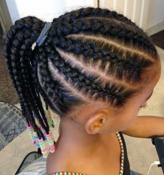 Braided Long Hairstyles for Black Kids