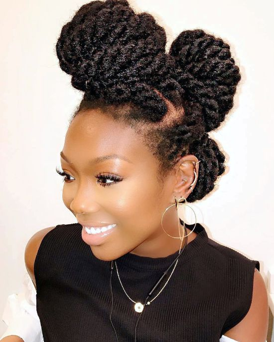 Brandy Norwood with Twisted Updo Hairstyle