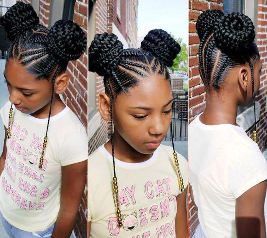 Multiple Knots on Braided Hair