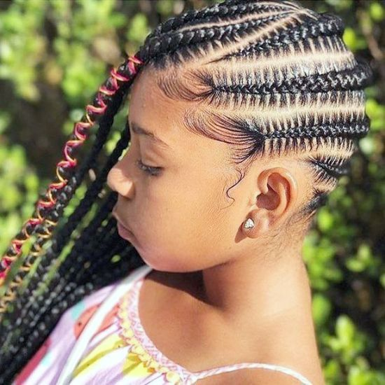 Side Cornrows Braids