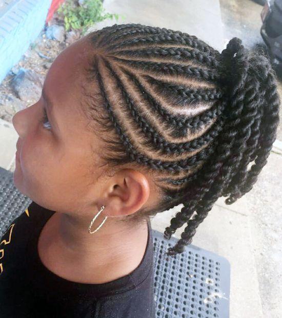 Side Cornrows Braids