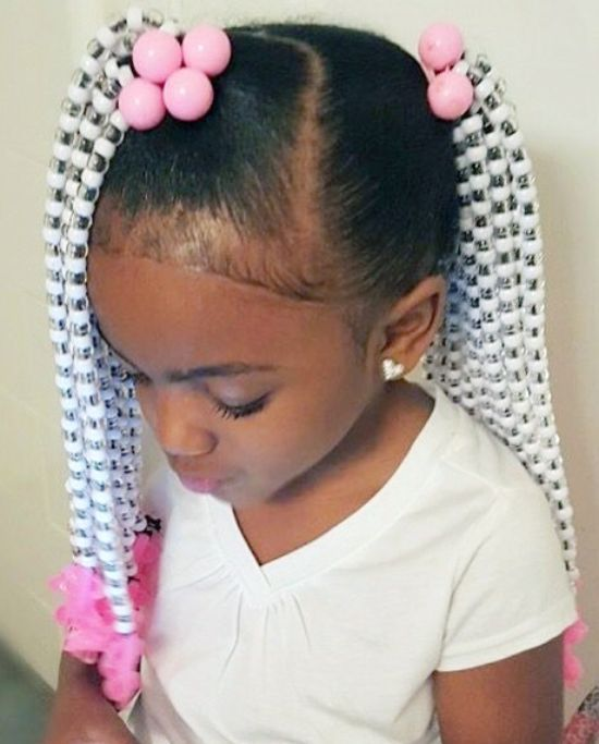 Braids with Colorful Beads
