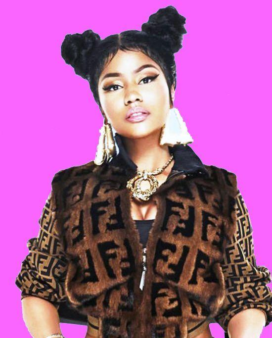 Nicki Minaj with Side Knots