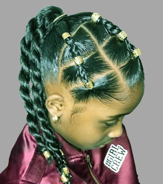 Braided Ponytail Hairstyles for Kids