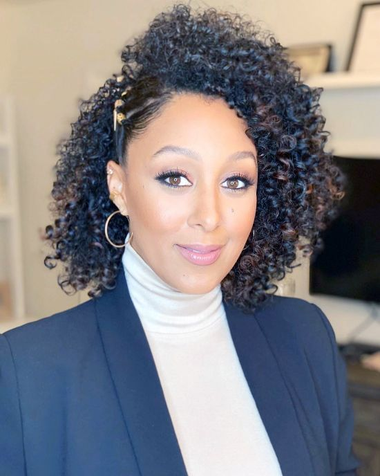 Tamera Mowry with Curls