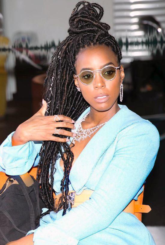 Kelly Rowland Faux Locks Updo
