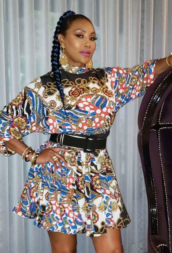 Vivica A. Fox with Braided Ponytail