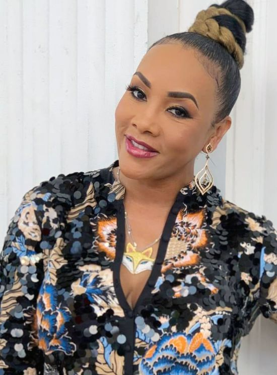 Vivica A. Fox with Blonde Updo