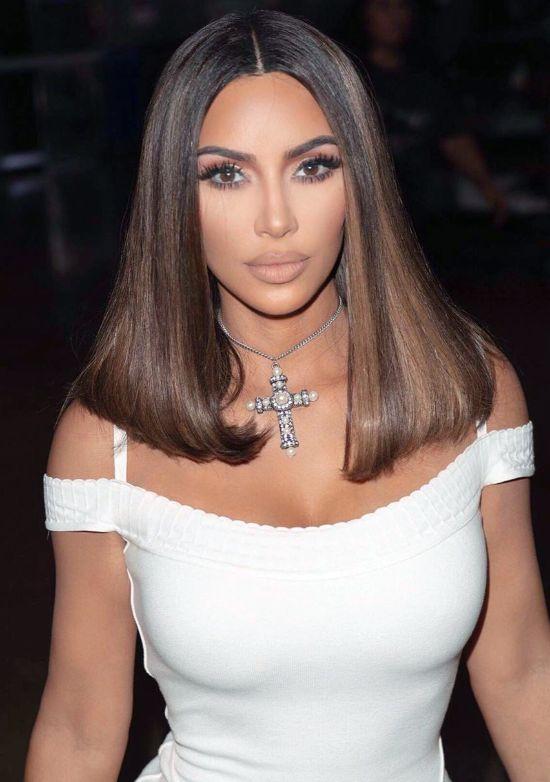 Kim Kardashian Long Bob Hairstyles