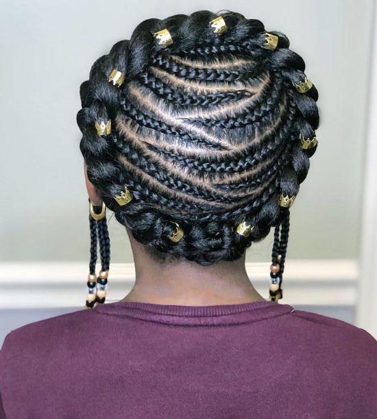 Headband Braids with Cornrows
