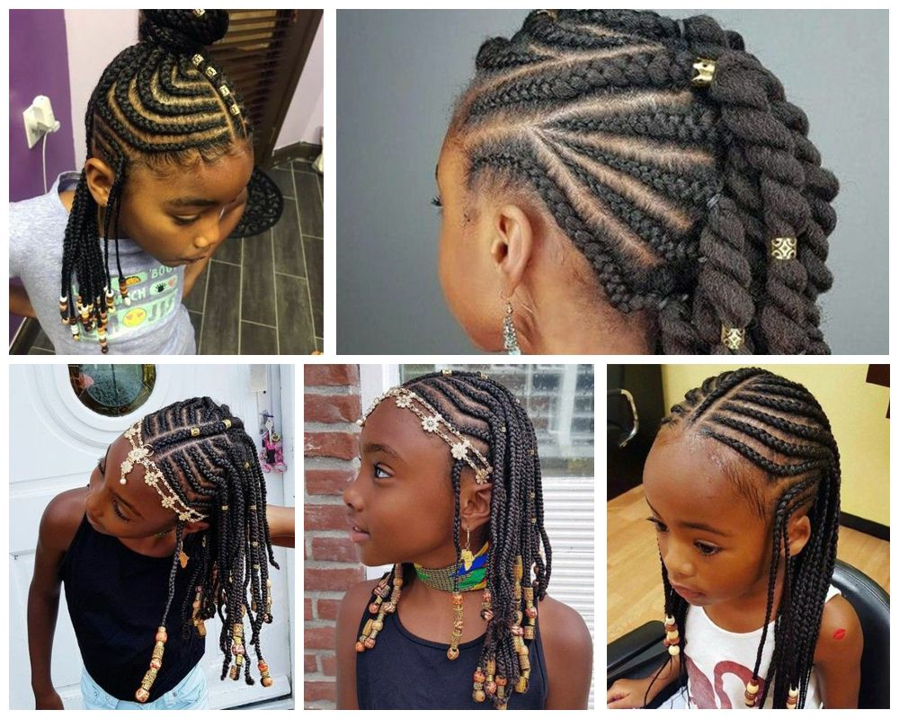 Accessorized Cornrows Braids