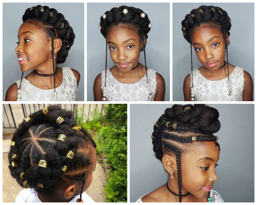 Dark Kids Headband Braids
