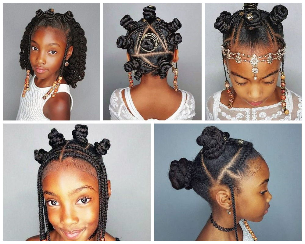 Bantu Knots for Ebony Kids