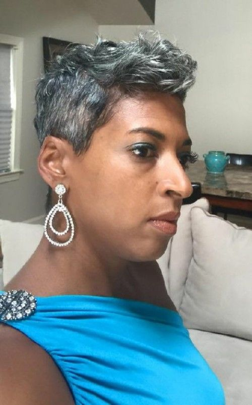 Older Dark Women Short Hairdos