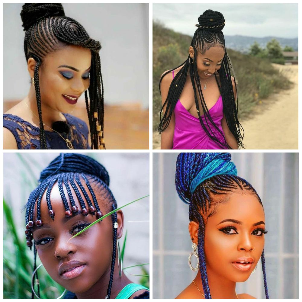 Tribal Braids Updo Hairstyles for Black Women