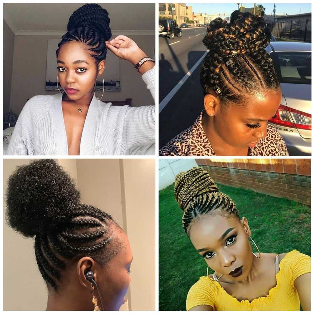Cornrows Updo