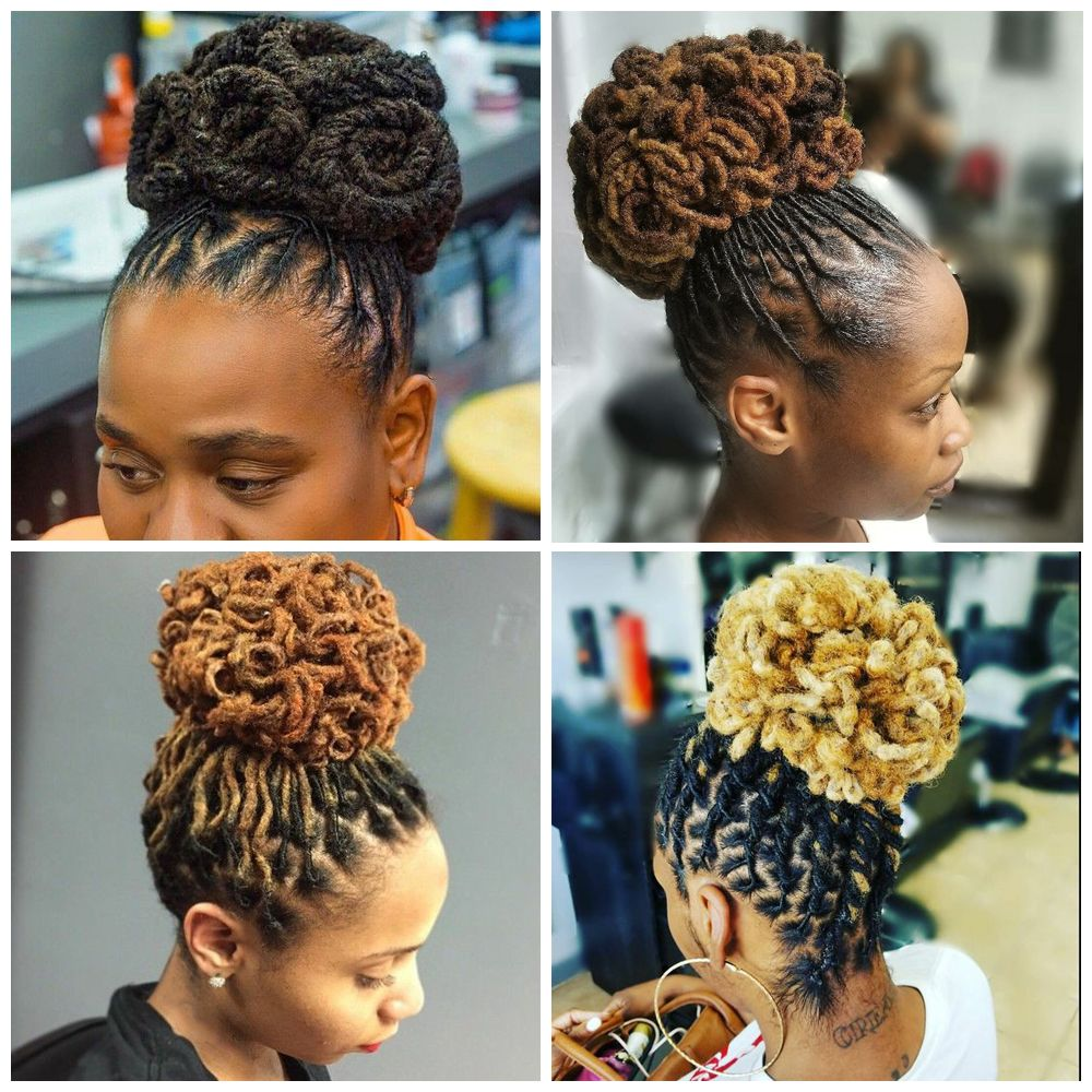 Dreadlocks Updo Hairstyles for Black Women