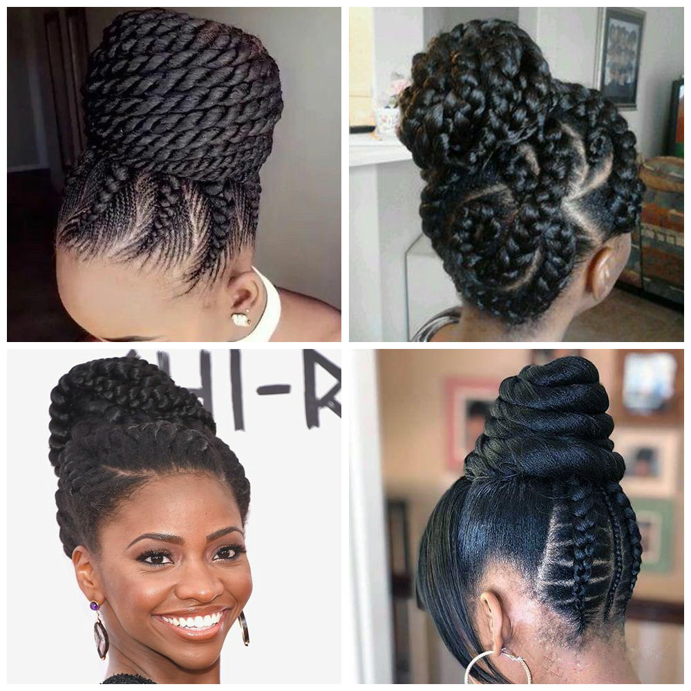 Goddess Braids Updo