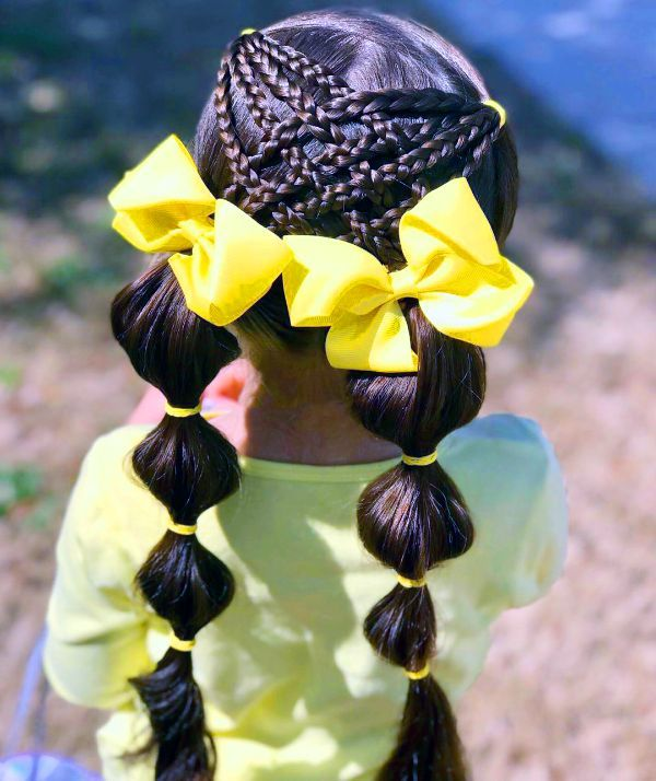 Kids Beautiful Bubble Braids